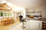 Kitchen dinner with glazed oak frame extension