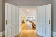 Bespoke double doors from drawing room into dining area