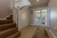 Updated hallway with glazed doors