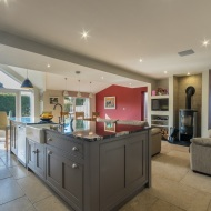 Open plan kitchen living dining
