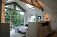 Master bedroom with glazed gable