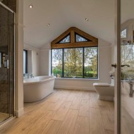 Bathroom with stunning views