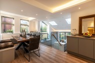 Dining area with glass balustrade