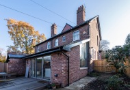Lean to extension with split level living